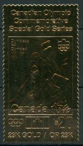 CANADA $20 OLYMPIC COMMEMORATIVE WRESTLING  23K SPECIAL  GOLD FOIL STAMP MINT NH