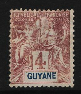French Guiana 1892/1904 Navigation & Commerce 4c (1/19) USED