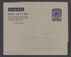 Aden H&G FG1 mint 1949 6a KGVI Aerogramme, fresh & VF