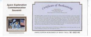 US #2842 1994 25TH ANNIVERSARY MOON LANDING-COMMEMORATIVE SOUVENIR SHEET