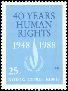 Cyprus #716, Complete Set, 1989, Never Hinged