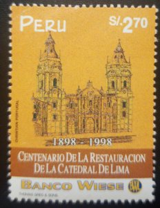 O) 1998 PERU, ARCHITECTURE. RESTORATION OF THE CATHEDRAL OF LIMA, SC 1186, BANCO