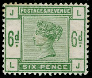SG194, 6d dull green, LH MINT. Cat £625. LJ