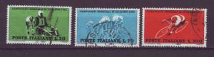 J21617 Jlstamps 1962 italy set used #857-9 bicycle