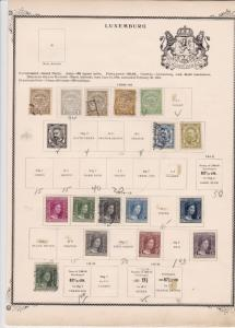 luxembourg stamps on 2 album page ref 13441