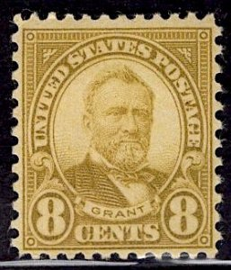US Stamp #640 8c Grant MINT Hinged SCV $2.00