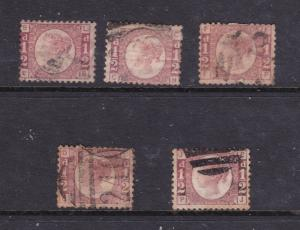 Great Britain x 5 used 0.5d from 1858 see description