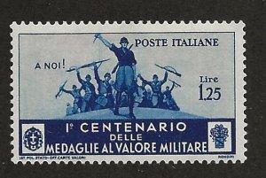 ITALY SC# 338  FVF/MOG