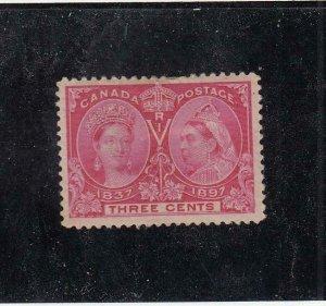 CANADA (MK6858) # 53  VF-MH 3cts 1897 QV DIAMOND JUBILEE /BRIGHT ROSE CV $40