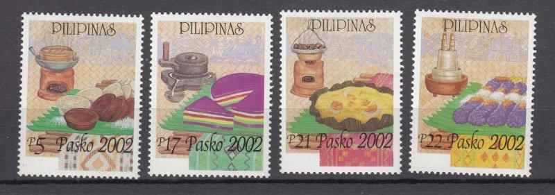 J27804  2002 philippines mnh set, #2798-2801 christmas