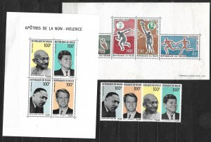 COLLECTION LOT OF 4 NIGER MNH 1964+ AND 2 SHEETS OF 4 CV + $22