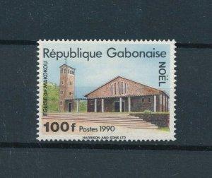 [104730] Gabon 1990 Christmas Weihnachten church  MNH