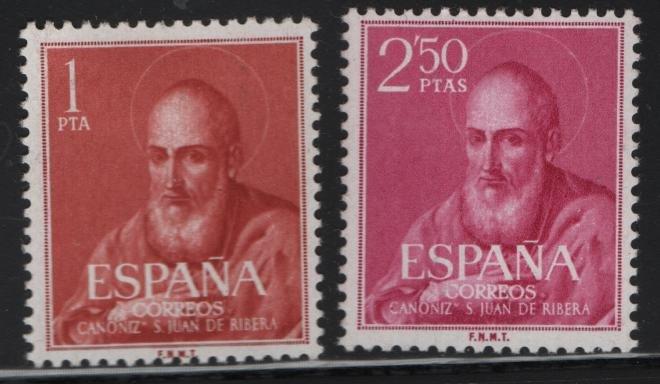 SPAIN 939-940, Hinged, 1960 St. Juan de Ribera