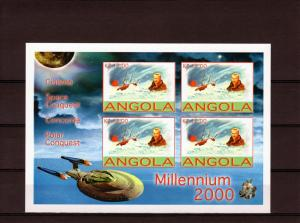 Angola 2001 M.Monroe/Giotto Halley's Comet 4 Sheetlets Imperforated MNH VF