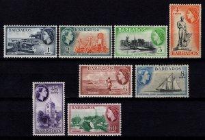 Barbados 1953 Elizabeth II Definitives Part Set [Unused]