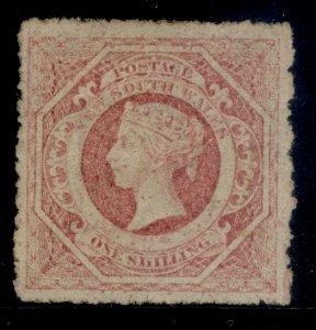 AUSTRALIA - New South Wales QV SG168, 1s rose-carmine, M MINT. Cat £400.