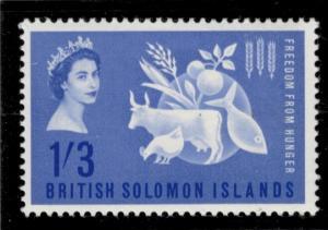 British Solomon Islands Stamp Scott #109, Mint Very Lightly Hinged, Freedom F...
