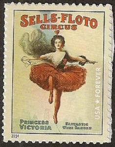 US 4899 Sells-Floto Circus Poster forever single MNH 2014