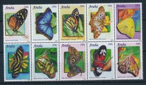 [AR500] Aruba 2010 Butterflies Schmetterlingen Papillons MNH