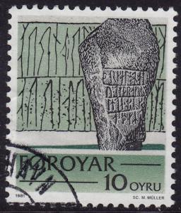 Faroe Islands - 1981 - Scott #65 - used - Rune Stone