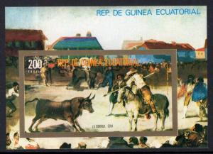 Equatorial Guinea 75109 Bull Fight Souvenir Sheet MNH VF