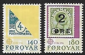 Faroe Islands # 43-44 - Ancient Stamps - MNH