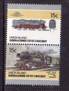 Union Is-Grenadines of St Vincent-Sc#17- id6-unused NH set-Trains-Locomotives-19