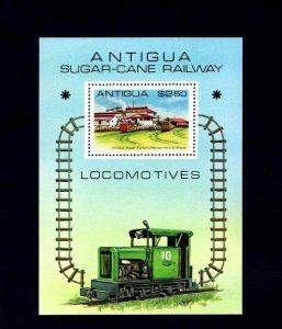 ANTIGUA - 1981 - LOCOMOTIVE - SUGAR-CANE RAILWAY - FACTORY ++ MINT MNH S/SHEET!