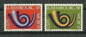 1973 Luxembourg Europa CEPT C/S MNH