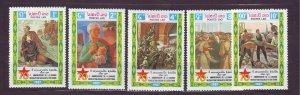 J23411 JLstamps 1987 laos set mhr/part hr #834-8 paintings