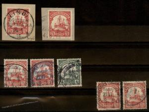 Germany Colonies East Africa DOA Railway Cancel Collection Lot Group 69779