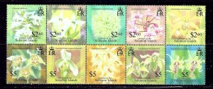 Solomon Is 975 MNH 2004 Orchids Block (been folded)    (ap2300)