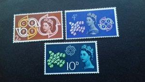 Great Britain 1961 EUROPA Stamps - Queen Elizabeth & CEPT Mint