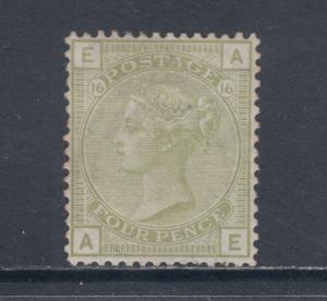 Great Britain Sc 70 MLH. 1877 4p Queen Victoria, Plate 16, Cert