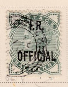 Great Britain 1882-5 Officials. Inland Revenue 1/2d green  F/VF/Used(o)