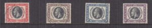 SOUTH WEST AFRICA, 1935 Silver Jubilee set of 4, used.