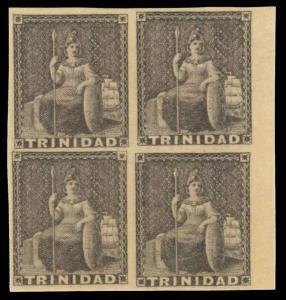 Trinidad Scott 8 Gibbons 9 Block of Stamps