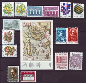 Z877 JLstamps 1984 iceland mnh year set #586-up