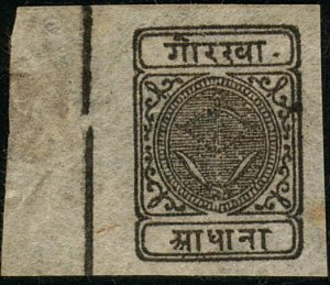 NEPAL 1899 SG22 - a fine unused marginal example...........................46132