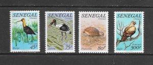 BIRDS - SENEGAL  #579-82  MNH