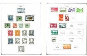 (El) Salvador 1942-1997 M & U Hinged on Scott International Pages Thru 1999