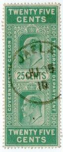 (I.B) Ceylon Telegraphs : 25c (Not Colombo)