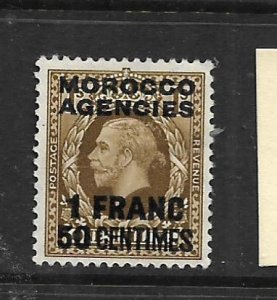 BRITISH OFFICES IN MOROCCO, 421, HINGED, KING GEORGE V SURCHD