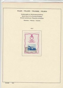 poland 1957 special issue for the philatelic exhibition stamps page ref 17284