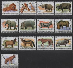 $Burundi Sc#589a-601a M/NH/VF, WWF O/P silver, complete set, Cv. $1000