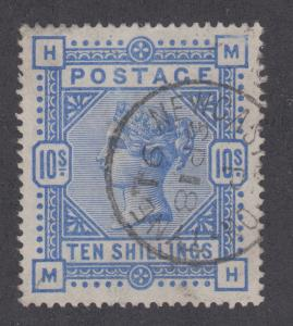 Great Britain Sc 109 used 1884 10sh Queen Victoria, Newcastle-on-Tyne cancel