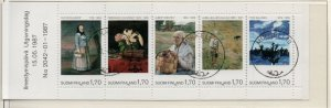 Finland Sc 758 1987 Art Museum stamp booklet pane used