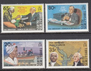 Turks and Caicos 522-525 MNH VF