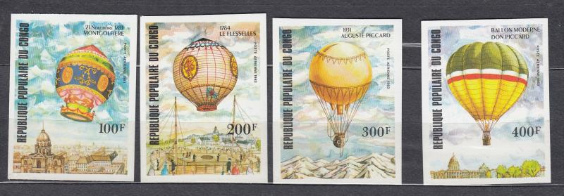Congo - 1983 Manned Flight Bicentenary Deluxe sheets - MNH (2319)