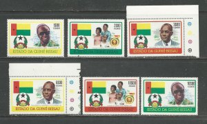 Guinea-Bissau Scott catalogue # 354-359 Unused Hinged